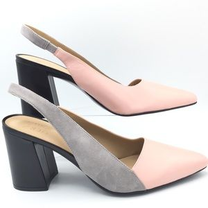 NWOB Naturalizer Pink & Gray Leather  Heels